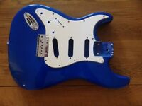 Left Handed Electric Guitar Blue Strat Body Shell