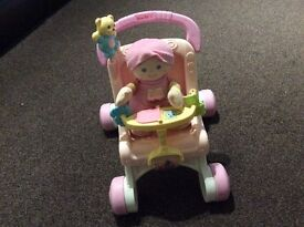 Fisher price first doll and stroller