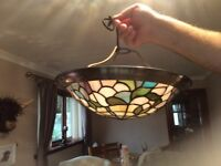 Two tiffany style light shades, excellent condition.