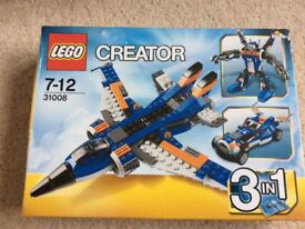 Lego Creator 3 in 1 jet,car and robot