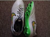Nike Magista Onda White/Green/Orange Size 9 UK. Refurbished and Deeply Cleaned