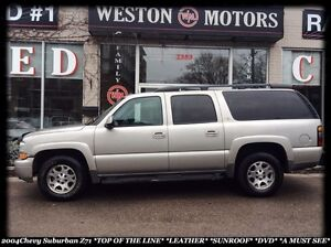 2004 Chevrolet Suburban Z71*TOP OF THE LINE*LEATHER*SUNROOF*DVD*