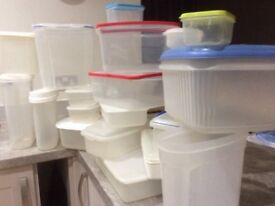 Food storage boxes, tuppaware, catering, containers