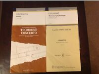 4 items of Sheet Music for Trombone & Piano