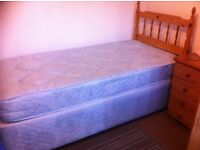 Single bed with headboard , good condition