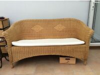 John Lewis rattan conservatory sofa