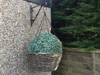 Hanging baskets with ball
