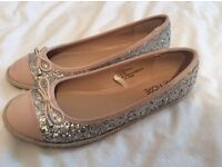 Brand new ladies glitter shoes size 6