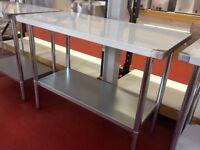 Stainless steel work table 150 cm / Restaurant