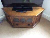 Solid oak wood Lounge furniture tv unit side tables cabinet