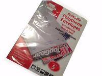 Job Lot of 9 Extra Strong Post Safe Polythene Envelopes 440mm x 320mm (pack of 5)