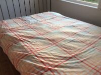 King size duvet cover ( US Polo Assasin), coral colours including a matching coral king size sherts