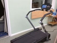 Motorised treadmill.