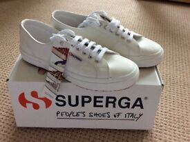Superga Italian leather trainers