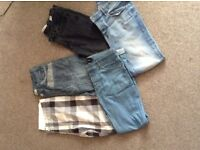 Men's jeans and shorts -Size 32 waist river island, top man etc