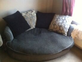 Large grey cuddle chair