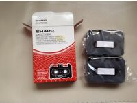 Sharp ZX-2TS1BK single strike ribbon cassette set