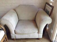 Light colour wide arm chair Furniture Village Product