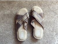 Men's M and S leather sandals