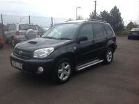 Toyota RAV 4 D-4D DIESEL 2005 102000 miles Black MOT july 2017 FSH (9 stamps) privacy glass