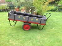 Hand painted & decorated trolley. Ideal for transportation or as a large planter