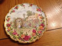 Royal Albert old country rose celebration plate