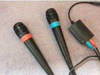 2 Wii songstar microphones for sale
