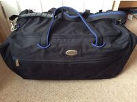 Black holdall bag with blue trim new/good condition