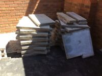 Paving slabs 24x24 inch square x 45mm thick