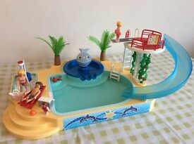Playmobil Children's Pool with Whale Fountain (5433)