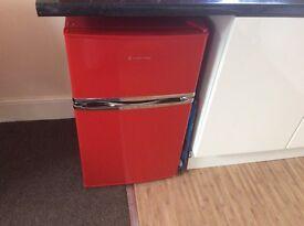 Red Russell Hobbs fridge freezer