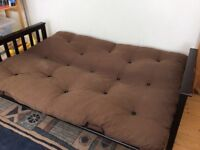 Double sofa bed with futon style matress
