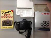 Slr canon eos 600 camera in box