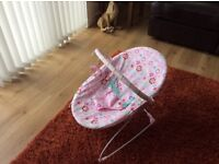 Baby bouncer chair pink