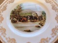 Large bone china plate Gainsbourgh