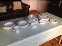 Set of vintage Pyrex - Tempo pattern