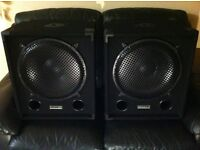 """2x 15"""" EKHO MAX Sub/Speaker/woofers 1000w each, never used as new £70 for both"""