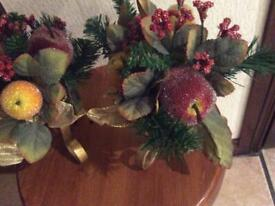 2 beautiful candle holders with fruit decoration