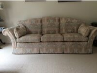 Sofa as new hand crafted 3/4 seater plus set of loose covers