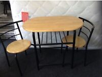 Table and chairs for two space saving