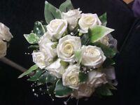 Bride bouquet and flower girl bouquet