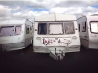 1999 ABI Ace statesman twin axle four berth caravan