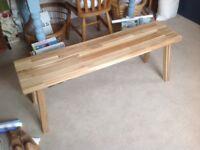 IKEA wooden bench Skogsta