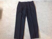 Men's black trousers size 36 waist regular leg