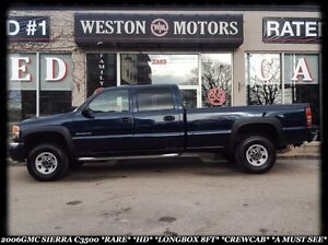 2006 GMC Sierra 3500 SLE*RARE *HD *LONGBOX 8FT *CREW CAB *DVD *M