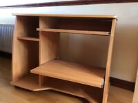 Computer desk/table - excellent condition. Perfect for office or homework station. Sliding shelves.