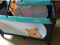 Disney travel cot perfect condition.