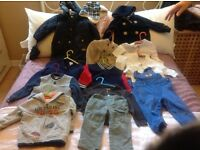 Baby boys clothes bundle 12/18 months