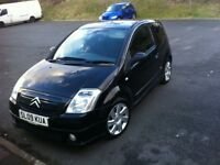 CITROEN C2 VTS HDI 1.6 turbo diesel gloss black fsh may deal with lhd