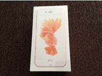 Apple iPhone 6s 64gb rose gold brand new still sealed ee network